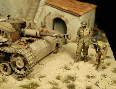 diorama z modelami
