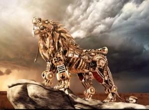 Steampunk Nemean Lion Kevin Hays