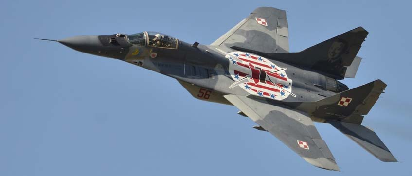 Mig-29 of the polish Airforce seen here at the Royal Internation